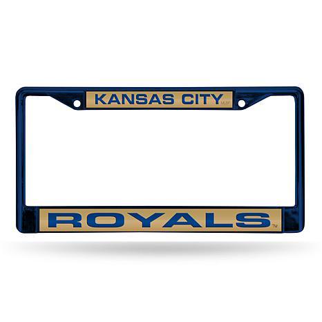 MLB Colored Laser-Cut Chrome License Plate Frame -  Royals