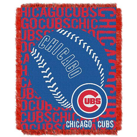 MLB Double Play Woven Throw - Chicago Cubs