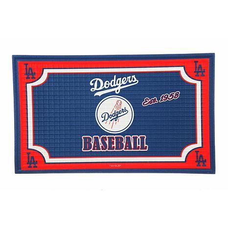 MLB Embossed Door Mat - Los Angeles Dodgers