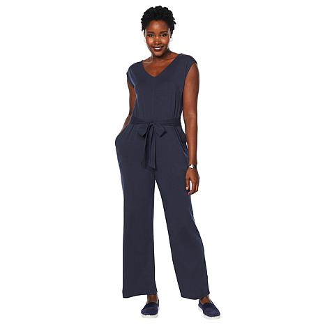 ModernSoul® Easy Knit Jersey Jumpsuit with Pockets