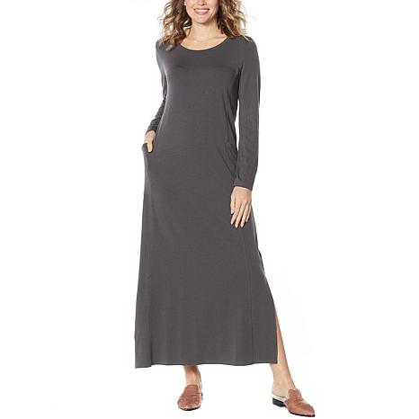 ModernSoul® Easy Knit Jersey Maxi Dress with Pockets