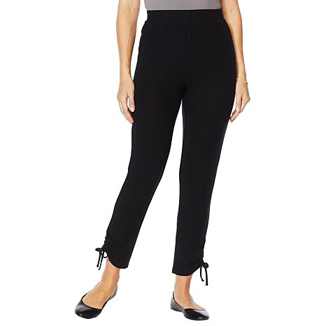ModernSoul® Luxe French Terry Pant with Ruched Leg Tie