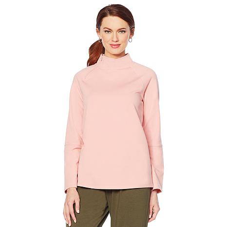ModernSoul® Luxe French Terry Zip-Neck Pullover