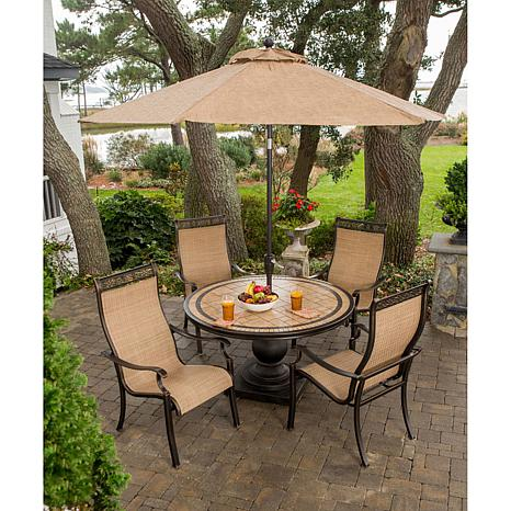 Charmant Monaco 5 Piece Outdoor Dining Set   7461249 | HSN
