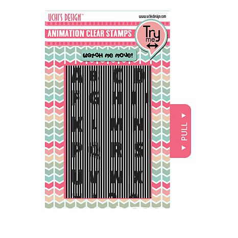 Motion Crafts Animation Clear Stamp Set - ABC Motion