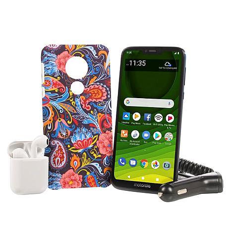 """Motorola Moto G7 Optima Maxx 6.2"""" HD+ Tracfone with 1500 Min/Text/Data"""