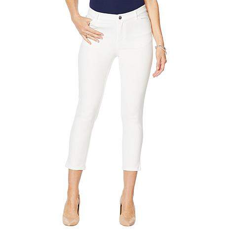 Motto Modern Stretch Sateen 5-Pocket Cropped Jean - White