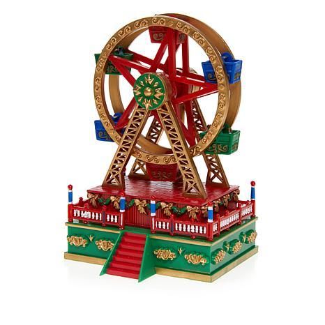 Christmas Ferris Wheel Music Box.Exclusive Mr Christmas Carnival Ferris Wheel Mini Music Box