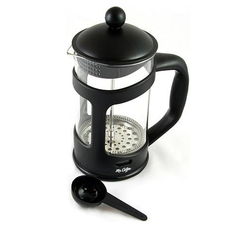 Mr. Coffee Brivio 28 Ounce Glass French Press Coffee Maker with Pla...
