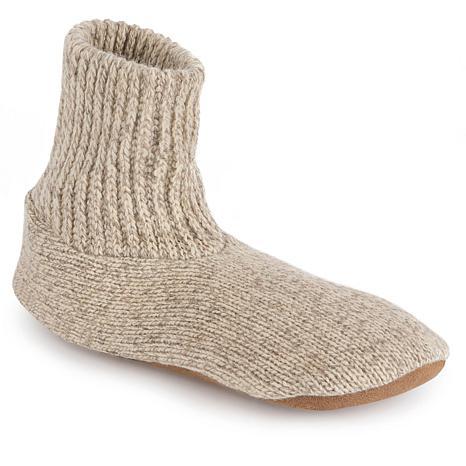 MUK LUKS Morty Ragg Wool Men's Slipper Sock