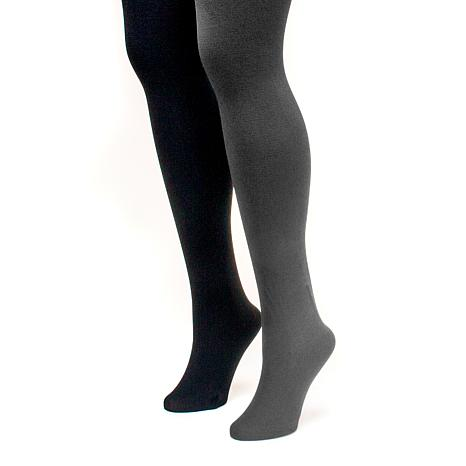MUK LUKS Women's 2-pack Fleece-Lined Tights