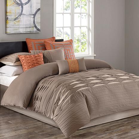 N Natori Nara Cotton Comforter Set - Queen/Neutral