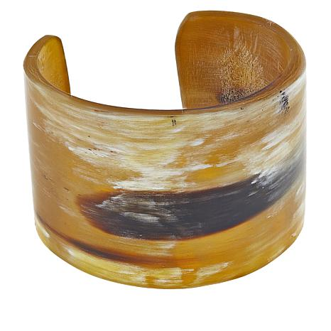 Natural Beauties Light Watusi Cattle Horn Cuff