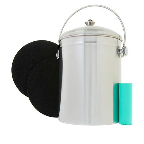 Natural Home 3-piece 1.3-Gallon Compost Bin Set