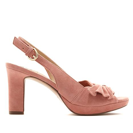 Naturalizer Fawn Suede Peep-Toe Slingback Pump