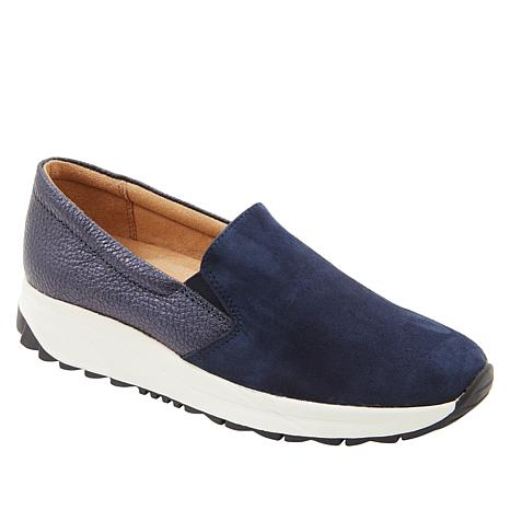 Naturalizer Selah Leather and Suede Slip-On Sneaker