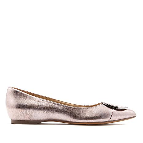 Naturalizer Stella Leather Pointed-Toe Flat
