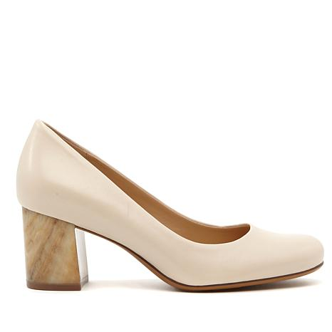 Naturalizer Whitney Leather Block-Heel Pump