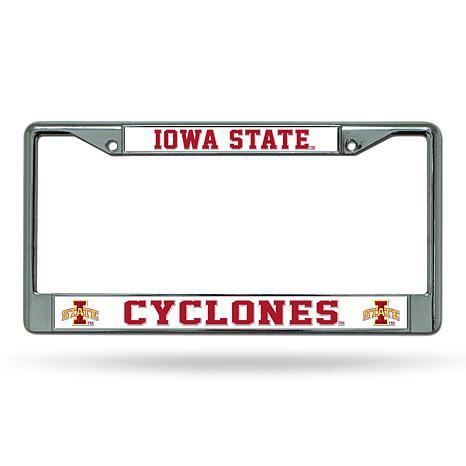 NCAA Chrome License Plate Frame - Iowa State - 8664762   HSN