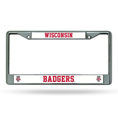 NCAA Chrome License Plate Frame - Wisconsin