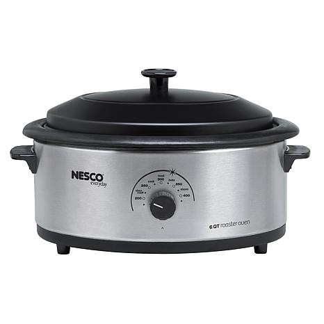Nesco 6qt Stainless Steel Roaster w/Nonstick Interior