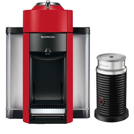 Nespresso Vertuo Red Single-Serve Machine w/Aeroccino Frother