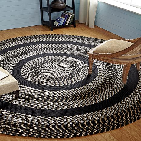 x home products country mill braided rug accents kc village rectangle