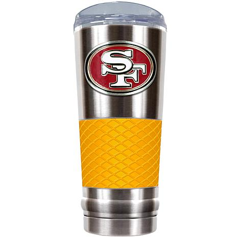 NFL 24 oz. Stainless Steel/Yellow Draft Tumbler - 49ers