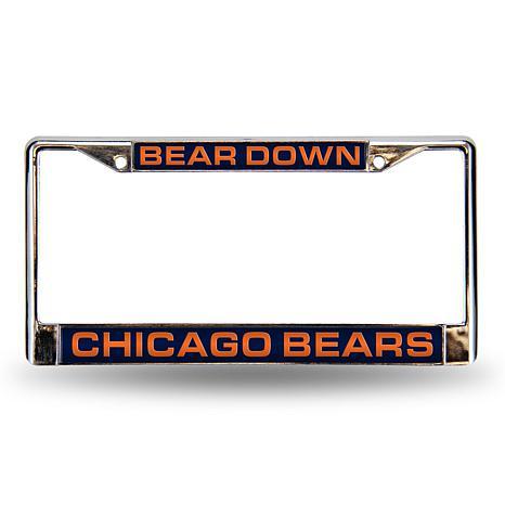 "NFL ""Bear Down"" Laser-Cut License Plate Frame-Bears"