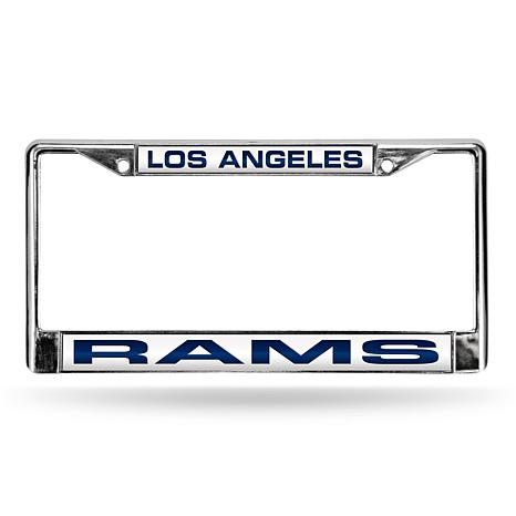Officially Licensed NFL Blue Laser-Cut Chrome License Plate Frame ...