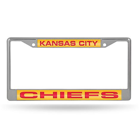 NFL Laser-Cut Chrome License Plate Frame - Chiefs