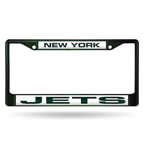NFL Laser-Cut Chrome License Plate Frame -  Jets