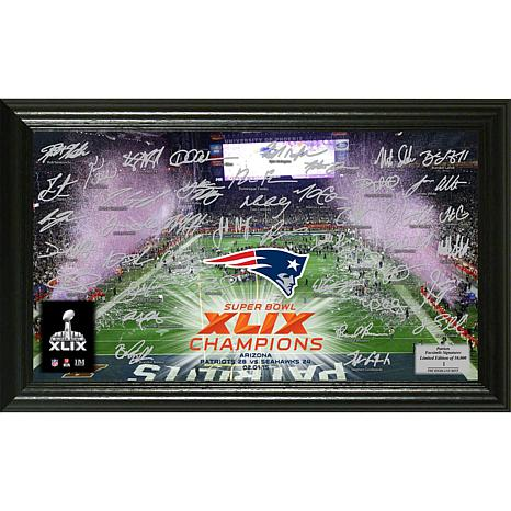 NFL Patriots Super Bowl XLIX Champs Signature Photo