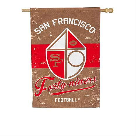 Officially Licensed Nfl Vintage Linen House Flag 49ers