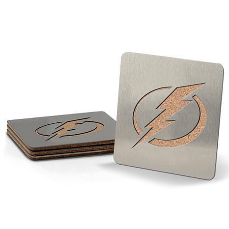 NHL Boasters 4-piece Coaster Set - Tampa Bay Lightning