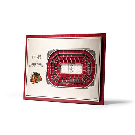 NHL Chicago Blackhawks StadiumViews 3-D Wall Art - United Center