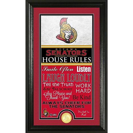 NHL House Rules Supreme Bronze Coin Photo Mint - Ottawa Senators