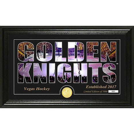 NHL Silhouette Panoramic Bronze Coin Photo Mint - Vegas Golden Knights