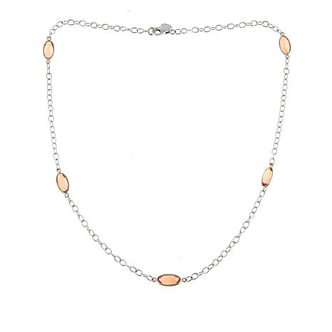 "Nicky Butler 10.25ctw Sunset Quartz Triplet 20"" Station Necklace"
