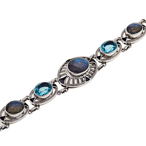 d2c3a8ed857a88 Nicky Butler 24.70ctw Faceted Labradorite and Gemstone Bracelet - 8601414 |  HSN
