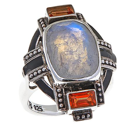 Nicky Butler Moonstone and Honey Topaz Deco Ring