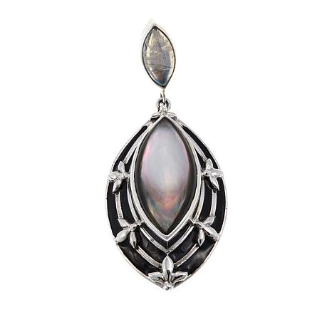 Nicky Butler Moonstone and Mother-of-Pearl Pendant