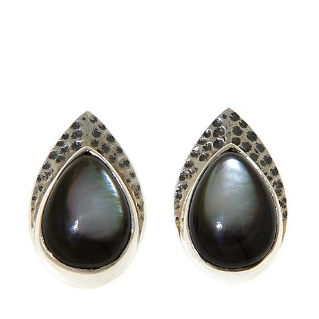 213a276c1 Nicky Butler Mother-of-Pearl Sterling Silver Hammered Pear-Shaped ...