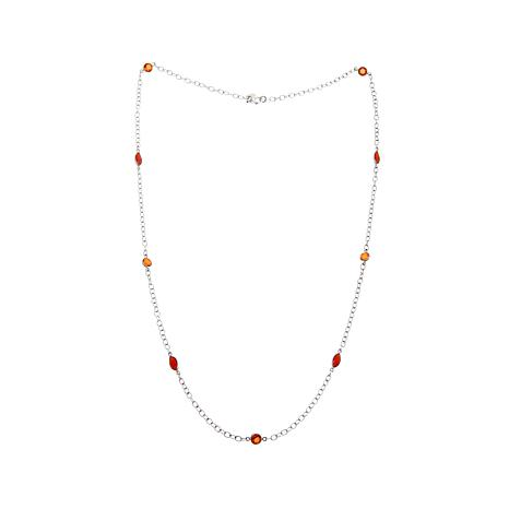 Nicky ButlerQuartz and Carnelian Station Necklace
