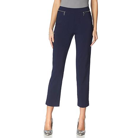 Nina Leonard Ankle Pant with Zipper Pockets