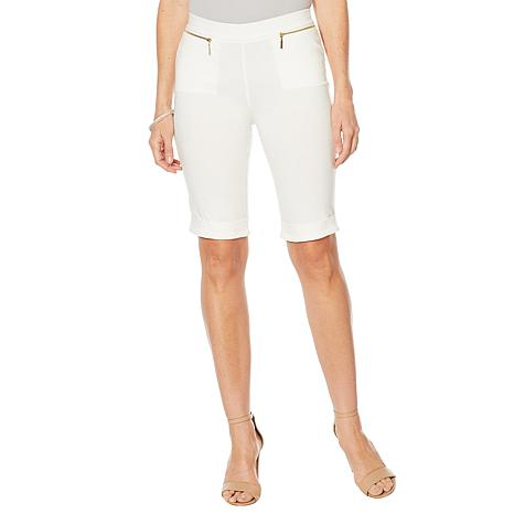 Nina Leonard Cuffed Pull-On Bermuda Short