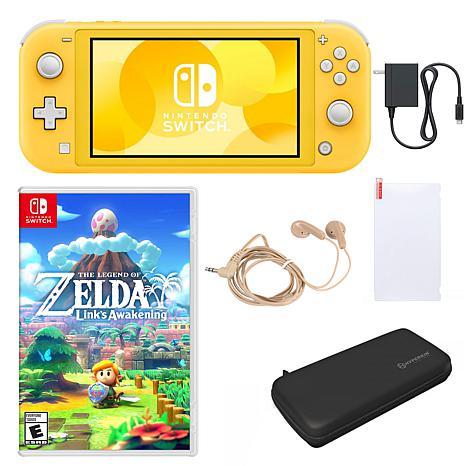 Nintendo Switch Lite  with Link's Awakening & Accessories - Yellow