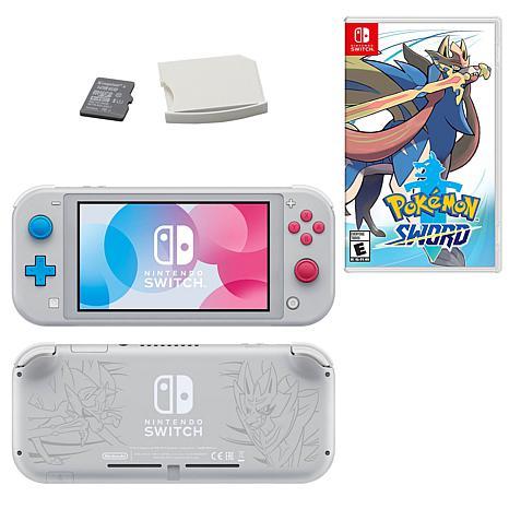 Nintendo Switch Lite With Zacian and Zamazenta with SD Card and Pok...