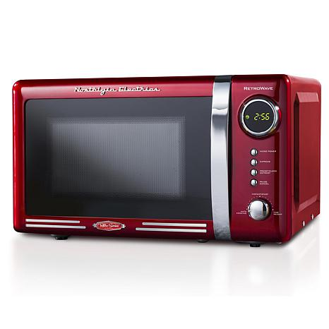 Nostalgia Retro 0.7 Cu. Ft. 700-Watt Countertop Microwave Oven - Red