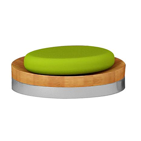 Nu-Steel Ageless Bamboo & Steel Soap Dish